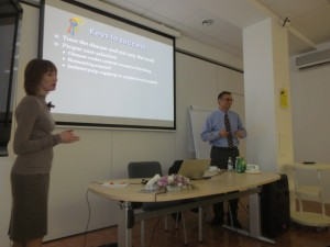 Lecturing in Russia, 2013
