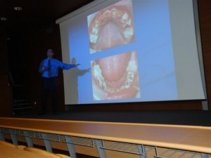 Lecturing at Budapest, 2012